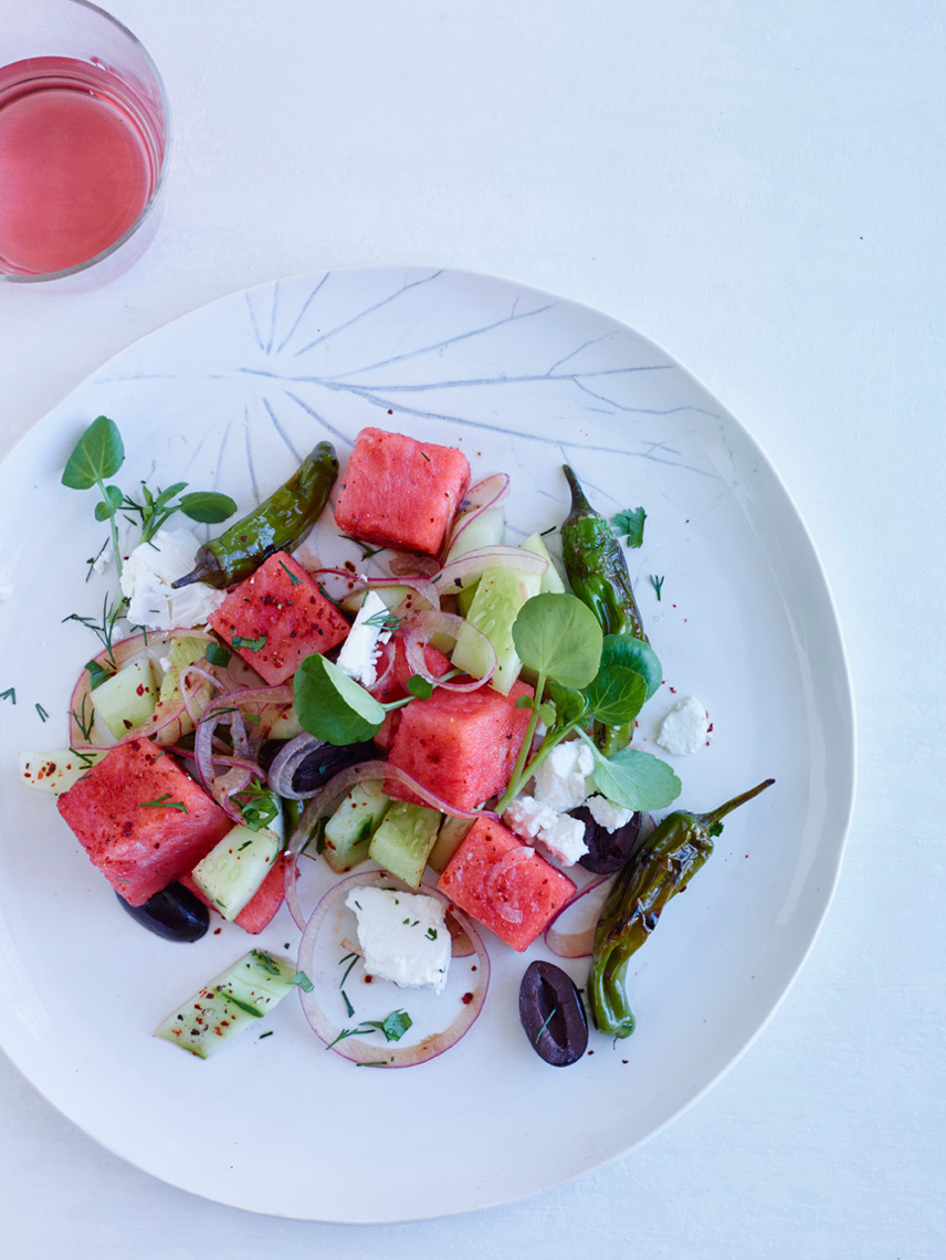 Cover Try + Watermelon Salad A140331 FW Best New Chefs July 201