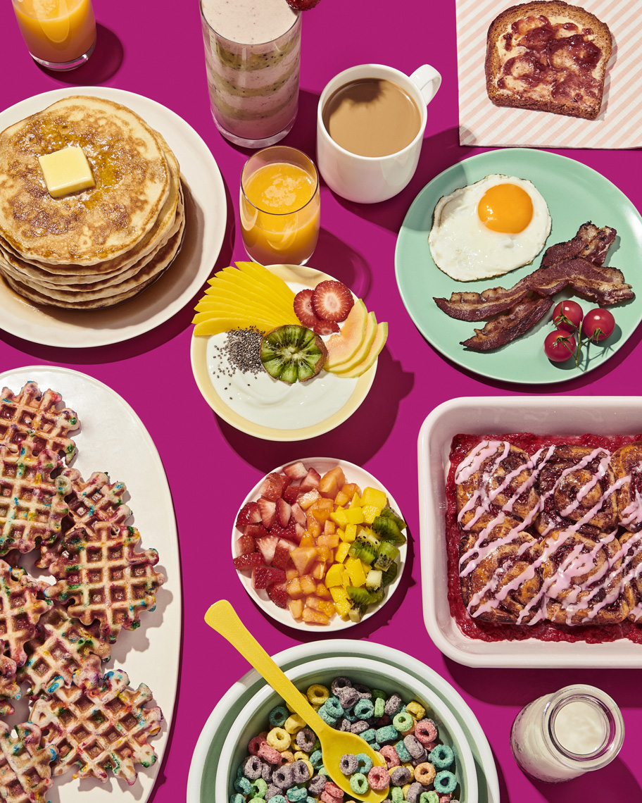 _jenna_gang_food_photographer_group_shot_on_pink_files_breakfast_foods